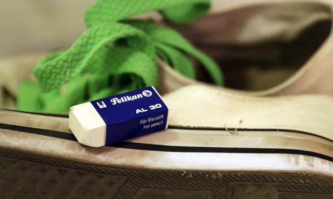 чем отмыть белую подошву на обуви