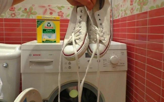 как отбелить кеды белые в домашних условиях
