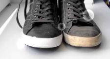как отмыть белую подошву на кроссовках