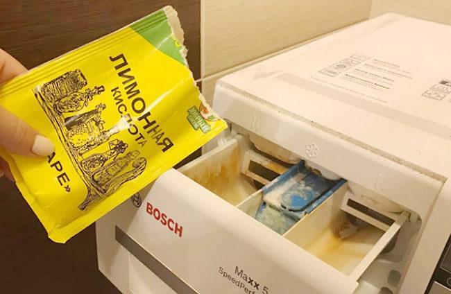 Чистка стиральной машины лимонной кислотой - Продли жизнь своей стиральной машине.