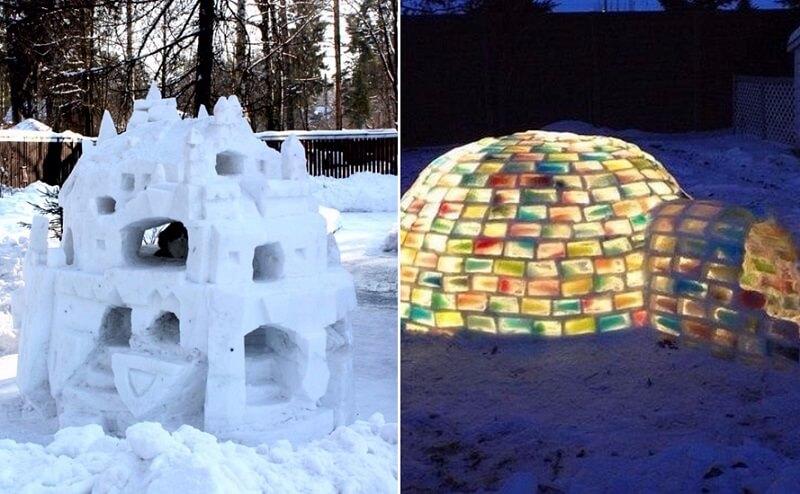 Оформление двора к Новому году: оригинальные идеи украшения для улицы