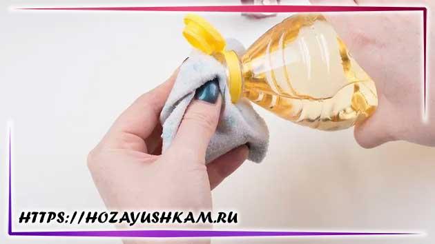 растительное масло можно использовать для оттирания красок с кожи